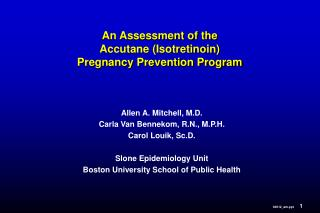 An Assessment of the Accutane (Isotretinoin) Pregnancy Prevention Program