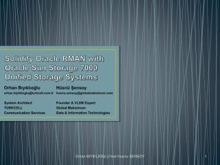 Solidify Oracle RMAN with Oracle Sun Storage 7000 Unified Storage Systems