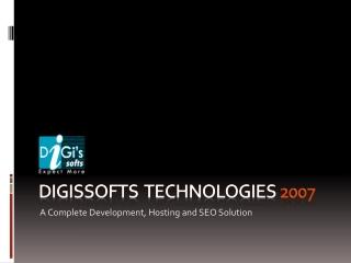 Digissofts Technologies web hosting, web development