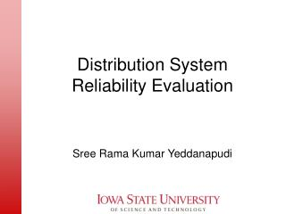 Distribution System  Reliability Evaluation