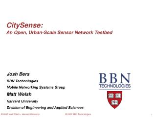 CitySense: An Open, Urban-Scale Sensor Network Testbed