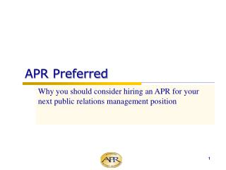 APR Preferred