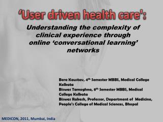 Understanding the complexity of clinical experience through  online  conversational learning  networks