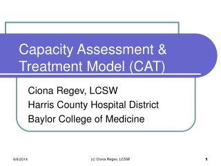 Capacity Assessment & Treatment Model (CAT)