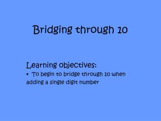 Bridging through 10