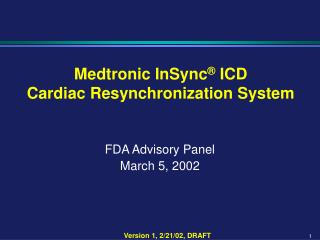 FDA Advisory Panel March 5, 2002