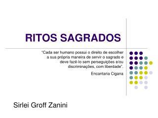 RITOS SAGRADOS
