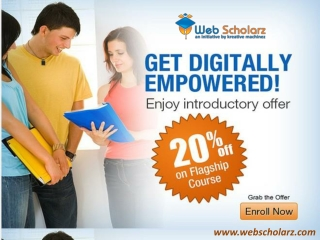 Join Online Marketing Training Courses at Webscholarz