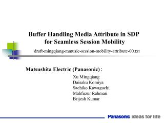 Buffer Handling Media Attribute in SDP for Seamless Session Mobility