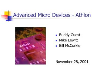 Advanced Micro Devices - Athlon