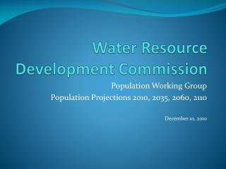 Water Resource Development Commission