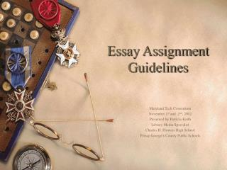 Essay Assignment Guidelines