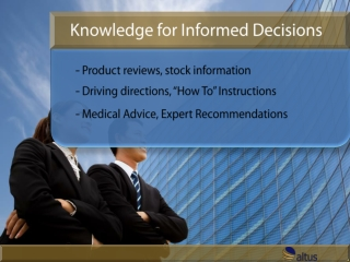 Knowledge for Informed Decisions - Altus Version w/ Sound