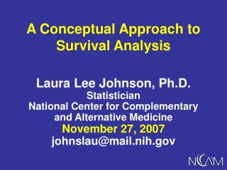 A Conceptual Approach to Survival Analysis