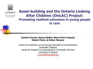 Asset-building and the Ontario Looking After Children OnLAC Project: Promoting resilient outcomes in young people in car