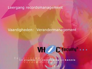 Leergang recordsmanagement