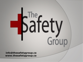 The Safety Group- First Aid