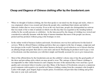 cheap chinese clothing