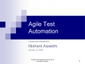 Agile Test Automation