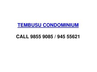 Tembusu Condominium