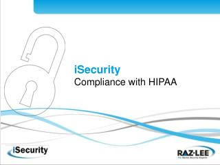 ISecurity Compliance with HIPAA