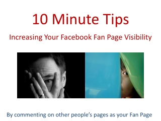 Facebook: Increasing visibility of Your Fan Page