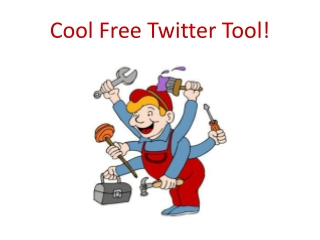 Cool Free Twitter Tool!