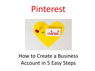 Pinterest: How to Create a Business Account