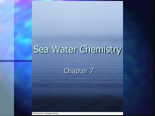 Sea Water Chemistry