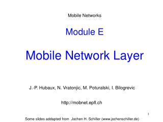 Module E Mobile Network Layer