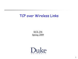 TCP over Wireless Links