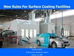New Rules For Surface Coating Facilities