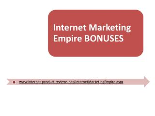 Internet Marketing Empire Review + Bonus