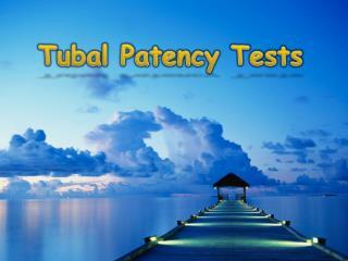 Tubal Patency Tests