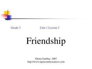 Grade 3                         Unit 1 Lesson 3