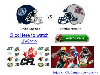 |enjoy| toronto vs montreal live online streaming hd cfl'11