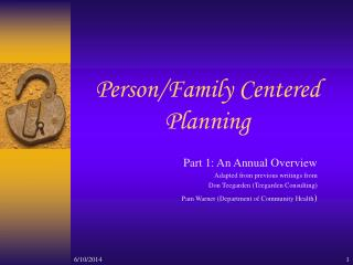 Person/Family Centered Planning