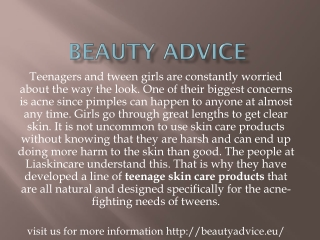 Beauty advice