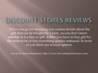 Discount stores reviews