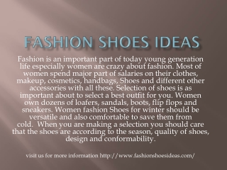 Fashion shoes ideas