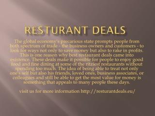 Resturant deals