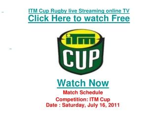 watch taranaki vs wellington itm cup rugby match live stream