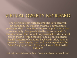 Virtual qwerty keyboard