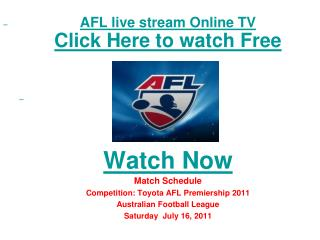 watch carlton vs collingwood afl premiership 2011 live strea