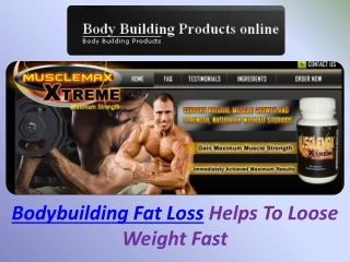 Bodybuilding Fat Loss