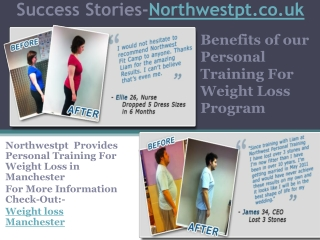 Benefits of our Personal Training For Weight Loss Program