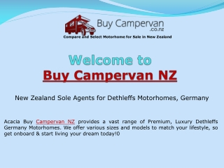Motorhomes For Sale - Acacia Buy Campervan New Zealand