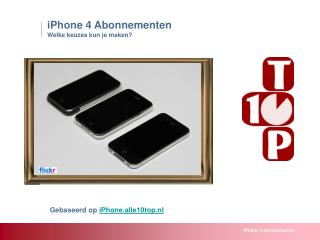 iPhone 4 - abonnementen in Nederland
