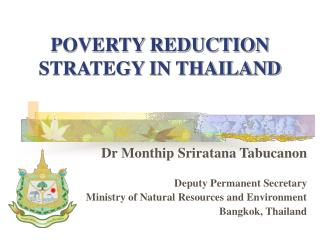 POVERTY REDUCTION STRATEGY IN THAILAND