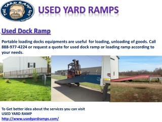 Used Dock Ramp for Your Operation